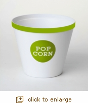Lime Green Rim Popcorn Bucket - Large