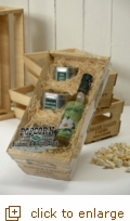 Organic Popcorn Wooden Crate Gift Set