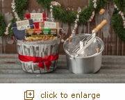 Silver Whirley-Pop: Basket Full of Popcorn Cheer Gift Set