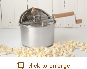 Whirley-Pop Stovetop Popcorn Popper with Metal Gears - Stainless Steel
