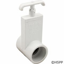 "Magic Plastics Gate Valve 1-1/2""s x 1-1/2""s Unibody # 0401-15"