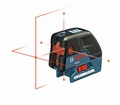 Bosch GCL 25 Self-leveling Combination Cross-line & 5-Point Laser with BM 1 positioning device Line Lasers