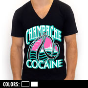 Champagne And Cocaine V-neck Tee