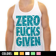 Zero Fucks Given Tank Top