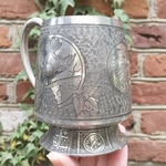 Antique 1882 Silver Plate Cup Engraved To My Husband on His Birthday