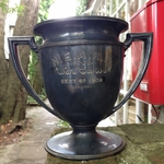 Antique 1909 Silver Plate War Canoe Trophy Cup