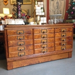 Antique Oak 15 Drawer Doctors File Cabinet
