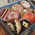 Vintage Kilim & Leather Coasters