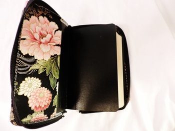 Black Missal Cover with Pink/Gold Floral
