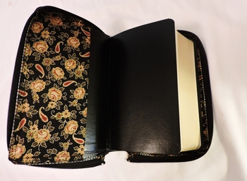 Black with Gold Roses Missal Cover