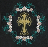 Floral Wreath Cross
