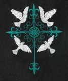 Grille Cross with Doves