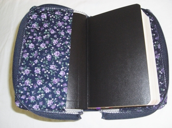 Navy Blue Floral Missal Cover