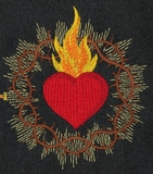 Sacred Heart with Crown of Thorns