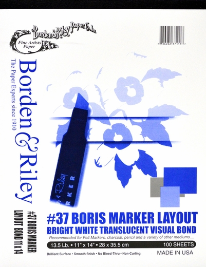 Boris Marker Layout, 100 Sheets 11X14''