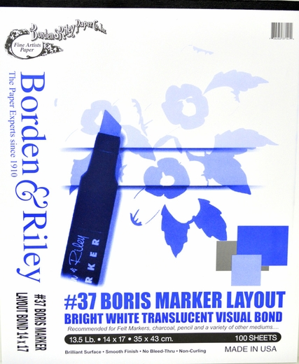 Boris Marker Layout, 100 Sheets 14X17''
