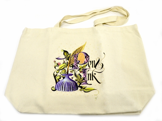 Canvas Tote w/Pen & Ink design