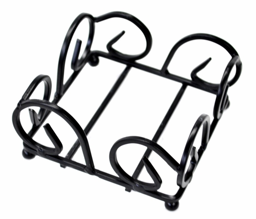 Coaster Rack, Wrought Iron with Decorative Sides