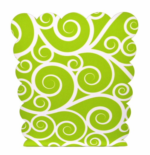 Magnetic Dry Erase Board, Green Swirls