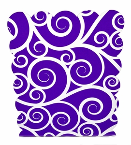 Magnetic Dry Erase Board, Purple Swirls
