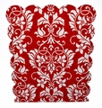 Magnetic Dry Erase Board, Red Damask