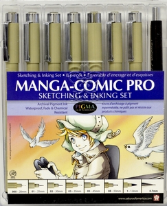 Manga Comic Pro Drawing set of 8