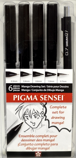 Manga Sensei set of 6