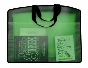 My Carry All Frosted Plastic Totes, Green