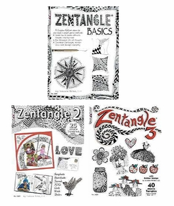 Set of 3 Zentangle Books (Basic,2 &3)