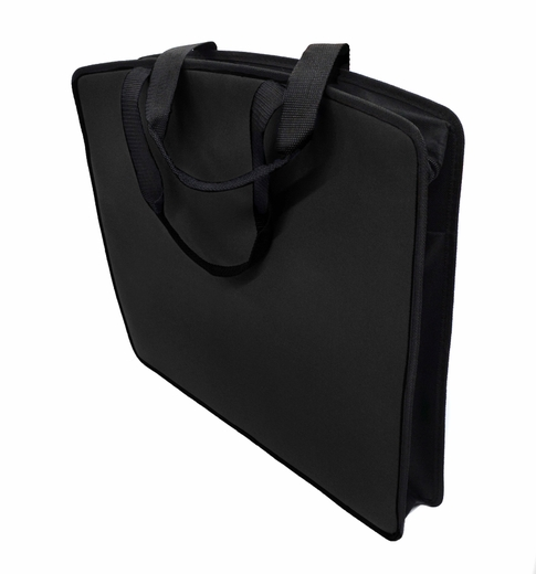 "Soft Touch 15""x18"" Canvas Padded Tote, Black"