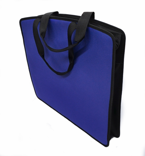 "Soft Touch 15""x18"" Canvas Padded Tote, Blue"