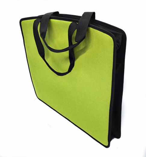 "Soft Touch 15""x18"" Canvas Padded Tote, Green"