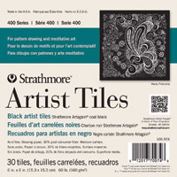 Strathmore Artist Tile, Black, 30 tiles