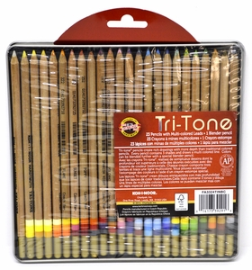 Tritone Colored Pencils, Set of 24