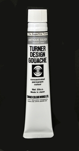 Turner Pearlized Metallic Gouache, Antique Silver