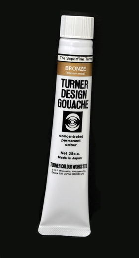 Turner Pearlized Metallic Gouache, Bronze