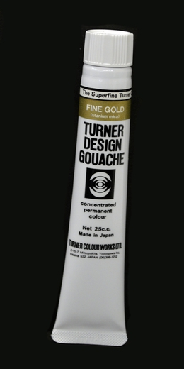 Turner Pearlized Metallic Gouache, Fine Gold