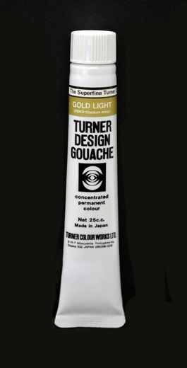 Turner Pearlized Metallic Gouache, Light Gold