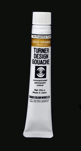Turner Pearlized Metallic Gouache, Orange Gold