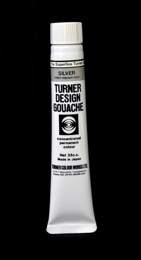 Turner Pearlized Metallic Gouache, Silver