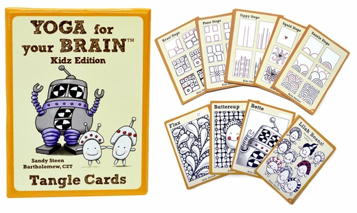 Yoga for Your Brain Tangle Cards, Kidz Edition