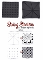 Zentangle String Starters Set #4, Pack of 2