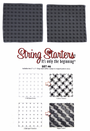 Zentangle String Starters Set #6, Pack of 2