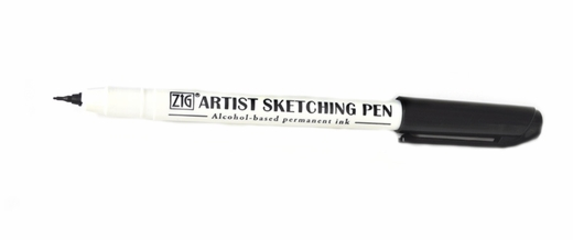 Zig Artist Sketch Pen, Black