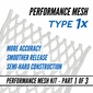 "String King Performance Mesh Type ""1X"" (10 Diamond)"