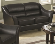Black Bonded Leather Loveseat 504532