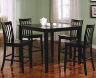 Black Finish 5 Piece Counter Height Dining Set 150231BLK