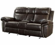 Bonded Leather Reclining Motion Love Seat 601042