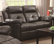 Brown Bonded Leather Upholstered Reclining Motion Love Seat 601322