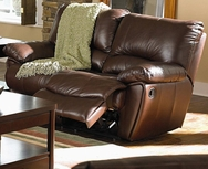 Brown Leather Double Reclining Love Seat 600282